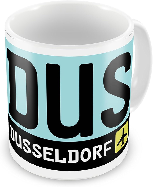 Coffee Mug Airport code DUS   Dusseldorf country  Germany  Neonblond