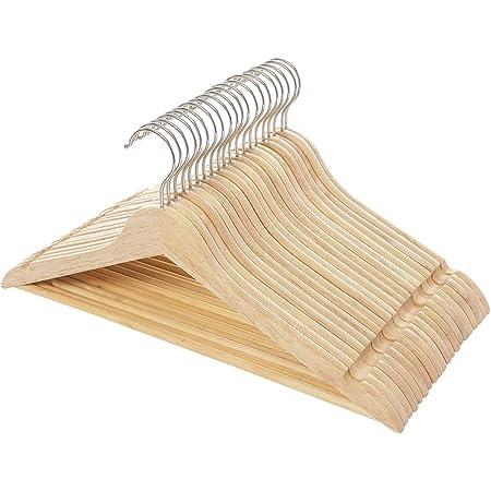 木製ハンガー 洋服ハンガー 20本組 洗濯ハンガー 滑らかに仕上げたシャツハンガー 肩部分に凹み付き 滑り止め スーツコートシャツ適用