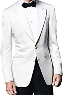 James Bond Spectre Ivory White Tuxedo Suit with Black Pants
