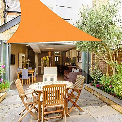 LIH Dreieck UV-Schutz Schatten Segel, Wasserdichtes Schatten Stoff Für Gartenterrasse Camping 160g / M2,Orange-3.6X3.6X3.6m