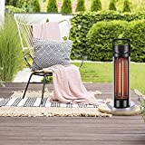 FMXYMC Portable Patio Heater, Outdoor Electric Heaters - Indoor Infrared Space Heater, Terrace Heating Lamp, IP55 Waterproof, Balcony Bistro Coffee Table,Without Glass Table top