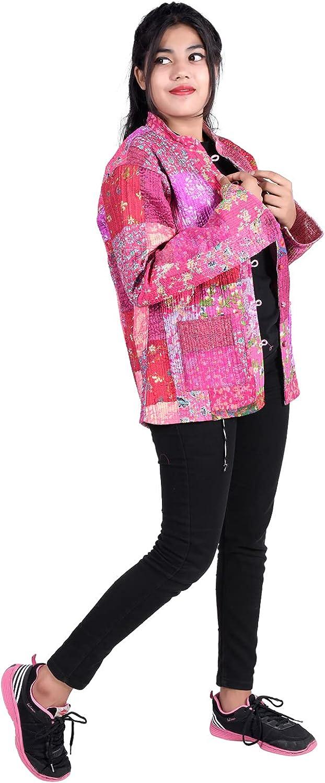 iinfinize Vintage Pocket Housecoat Cotton Reversible Blazer Vintage Unisex Dress Throw Waistcoat Ethnic Throw Outdoor Cotton Windbreakers Outerwear Jacket Housecoat-Size XL
