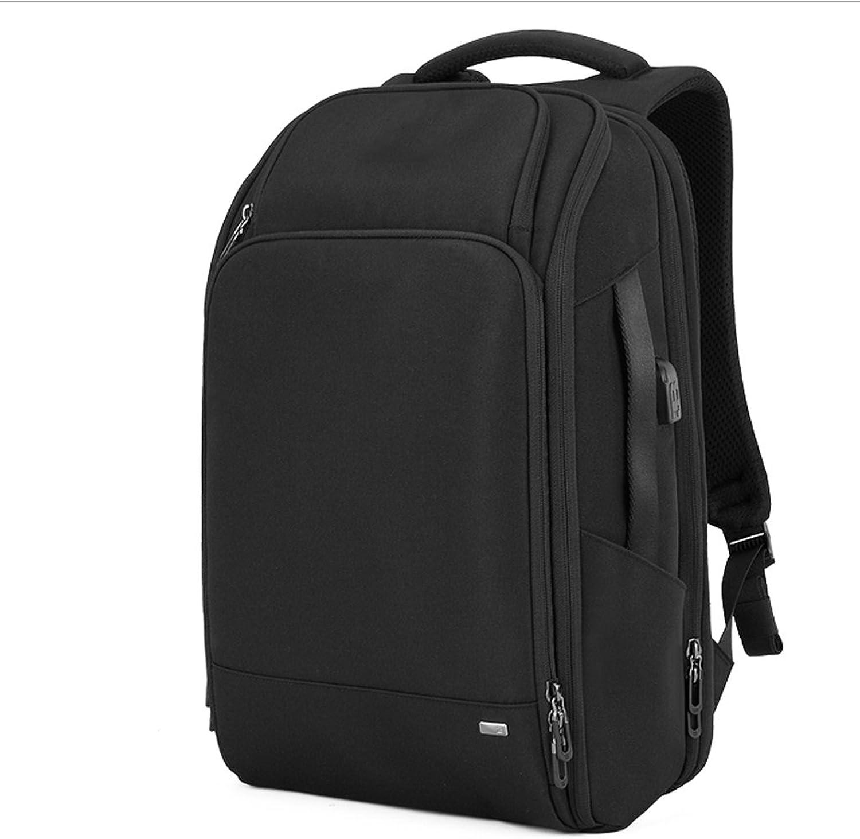 GLJ High-Capacity Fashion Men's Business Backpack Computer Bag Backpack (color   Black)