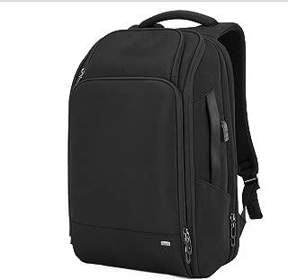 GLJ High-Capacity Fashion Men's Business Backpack Computer Bag Backpack (Color : Black)