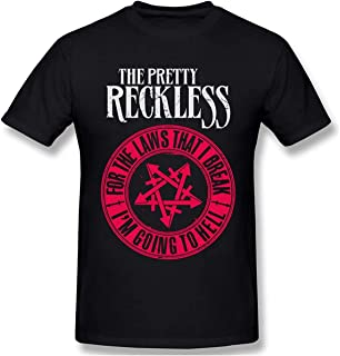 The Pretty Reckless (2) Camiseta de algodón de Manga Corta para Hombre Negro