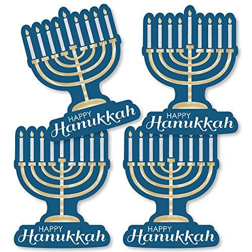Big Dot of Happiness Happy Hanukkah - Menorah Decorations DIY Chanukah Party Essentials - Set of 20