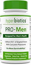 Hyperbiotics PRO-Men - Probiotics for Men with Curcumin Phytosome - Urinary and Prostate Support - 15x More Survivability-...