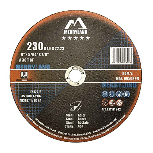 Merryland 230 X 1.9 Expert-line Cutting Disc Steel Metal Iron 25PCS