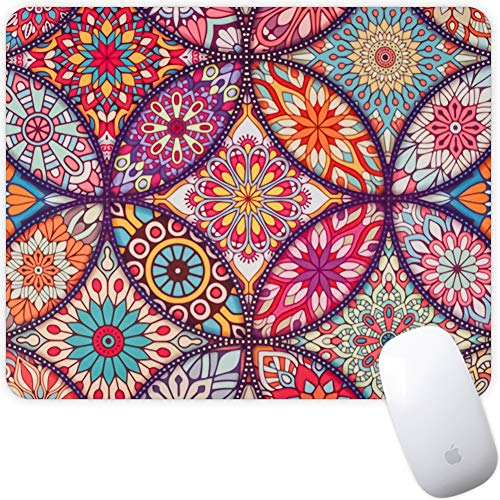 Marphe Mouse Pad Mousepad Non-Slip Rubber Gaming Mouse Pad Rectangle Mouse Pads for Computers Laptop (Mandala Flower)