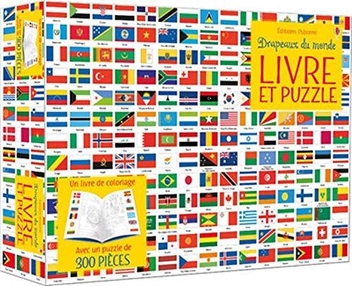 Coffret Drapeaux du monde (Livre et puzzle)