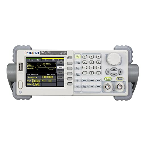 "Siglent SDG1025 Digital Signal Generator Function/Arbitrary Waveform Generator 20MHz 125MSa/s 4.3"" for Analog Sensor, Real Environmental Signals, Circuit Function Test, IC Test, Education"