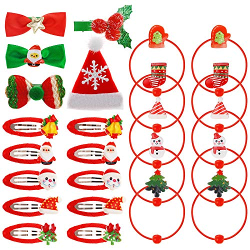 Clips Pelo Navidad Bebe Marca Kiiwah