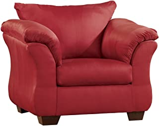 Signature Design by Ashley - Darcy Chair w/ Loose Seat Cushion, Salsa Red