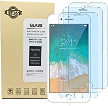 Screen Protector iPhone 8 7 6S 6, Anti Blue Light Screen Protector [ Eye Protect ] [ Touch Screen Accuracy ] [Bubble Free] Tempered Glass for iPhone 8/7 /6s/ 6 [3 Pcs]