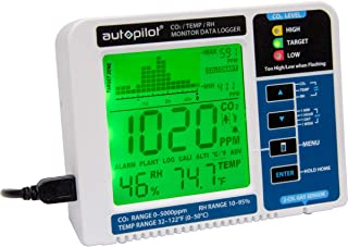 Hydrofarm APCEM2 Autopilot Desktop CO2 Monitor & Data Logger, Data, Blue