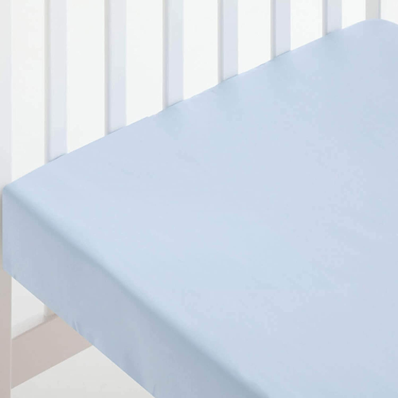 Sábana Bajera ALGODÓN Minicuna (50 x 80 cm) azul