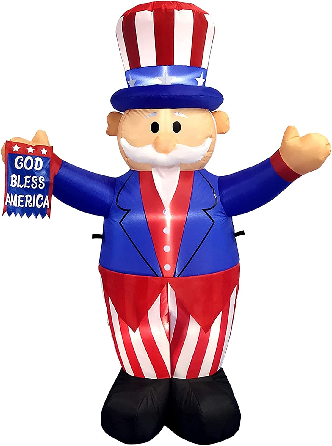 Kyerivs 6 ft Tall Patriotic Independence Decoration J New Special sale item item of Day 4th