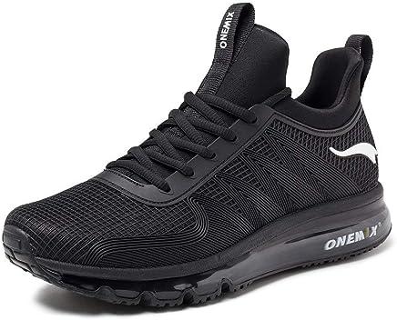 350d4c83395b3 ONEMIX Chaussures de Course pour Hommes Chaussures de Sport Coussin d'air  Cushion Athletic Sports