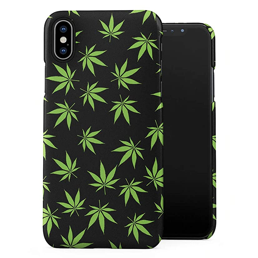 Smoke Weed Marijuana Leaf Pattern Plastic Phone Snap On Back Case Cover Shell for iPhone Xs Max