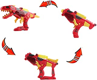 BONJIU Take A Part 3 in 1 Dinosaur Transforming Tyrannosaurus Rex Dinosaur and Toy Gun with Power Drill Toy for Construction Electric Drill DIY Puzzle Set
