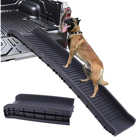 Cracklight Hunderampe Auto Klappbar Haustiertreppe Autorampe Für Hunde Tragbare Kofferraumrampe Hund Hunderampe Einstiegshilfe Leichte Haustierrampe Für Autos Lkw Und Suv Haustier