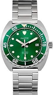 Pantor Sealion 300m Mens Automatic 42mm Pro Dive Watch with Helium Valve Rotating Bezel Sapphire Bracelet & Rubber Strap Diving Watch