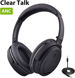 Avantree ANC032 Active Noise Cancelling Bluetooth Headphones with Mic, Wireless, Wired 2-in-1, Comfortable & Foldable Stereo ANC Over Ear Headset, Fast Stream Low Latency, Ideal for Phone, PC & TV