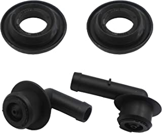 YHB PCV CCV Vent Valve Elbow & Grommet Set compatible with Jeep 00-04 Grand Cherokee(WJ) 4.0L