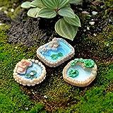 pittospwer 3Pcs Pool Miniature Landscape Ornament Garden Bonsai Puppenhaus Decor Resin Craft One...