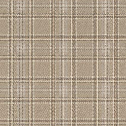 rasch Tapete 861723 aus der Kollektion b.b home passion VI – Karierte Vliestapete im schottischen Stil – Braun, Beige, Creme – 10,05m x 53cm (L x B)