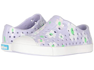 Native Kids Shoes Jefferson Print (Toddler/Little Kid) (Powder Purple/Shell White/Daisy) Girls Shoes