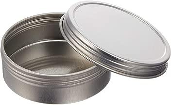 Screw Top Round Steel Tins, 4oz (24 Per Pack)