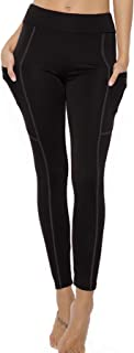 T WILKER High Waist Yoga Pants with Pockets Non See-Through Ultra Comfort Workout Pants