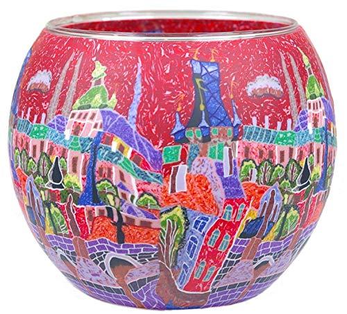 Porcelaine Himmlische D/üfte Geschenkartikel GmbH R/äder Parfums Cadeau Objet dl0103/Ciel /étoil/é Photophore Blanc 12/x 12/x 8/cm