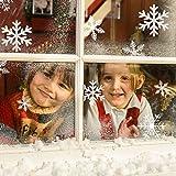 Migimi Schneeflocken Fensterbild, Fensterdeko Weihnachten Wand PVC Aufkleber Winter Dekoration für Türen,Schaufenster, Vitrinen, Glasfronten, Party Deko und mehr
