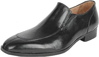 Salt N Pepper Black Real Leather Men's Slip On Shoes