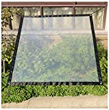 SSYBDUAN Toldo Exterior Impermeable,Lona Transparente para Jardín Impermeable Anti Congelación Película Impermeable A Prueba De Lluvia Toldo De Aislamiento Cubierta De Plástico PE 2×3m(Size:1x2m)