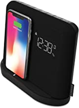 Kitsound Xdock Qi Charger Wireless Bluetooth Speaker Charging Dock with FM Radio for iPhone 8/X/XS/XR/XS Max, Samsung S6/S7/S8/S9 - Black