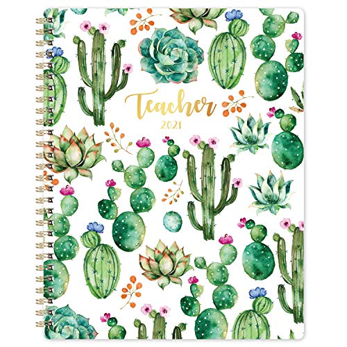 Teacher Planner 2021 - Planner from Jan. 2021 - Dec. 2021, 8'' x 10'', Lesson Plan Book, Weekly & Monthly Lesson Planner with Quotes