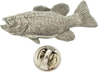 Smallmouth Bass Pin ~ Antiqued Pewter ~ Lapel Pin ~ Sarah's Treats & Treasures