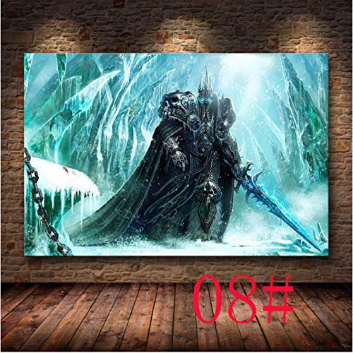 H/L The Poster Decor Painting World Of Warcraft 8.0 Map On Hd Canvas Canvas Painting Wall Art Canvas Posters And Prints 40X50Cm -Pd977
