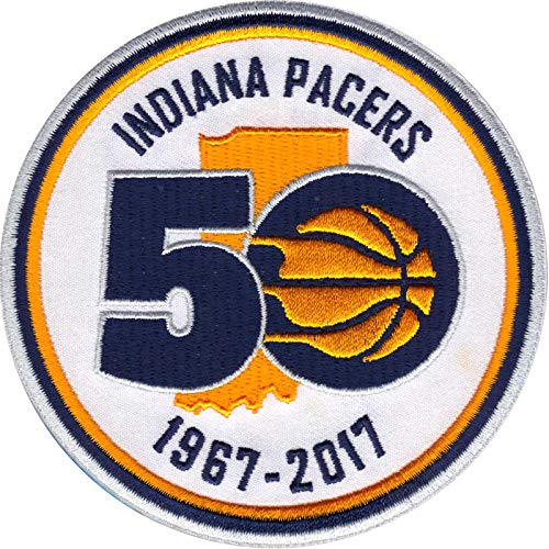 2017 Official NBA Indiana Pacers Patch Warm Up Jersey 50th Anniversary