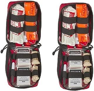 Individual Bleeding Control Kit- Basic,Nylon Bag, Red (2 Pack)