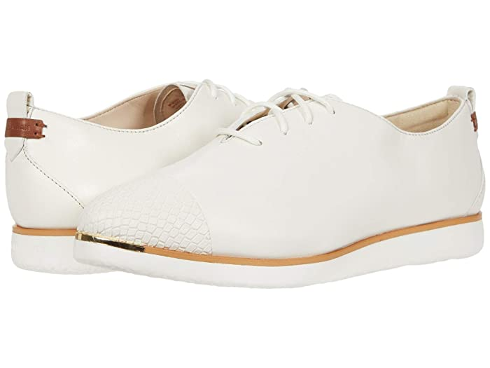 Cole Haan  Grand Ambition Lace-Up (Ivory Python Print Leather/British Tan/Ivory) Womens Shoes