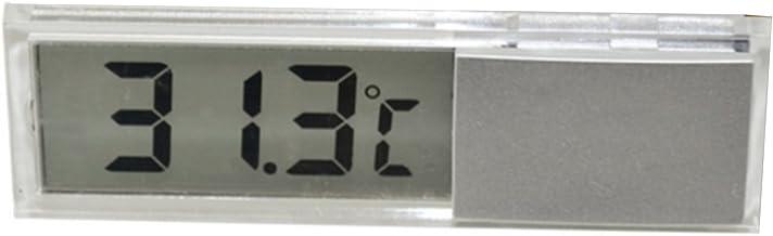 Vococal Mini Metro Montado en el Vehículo de la Temperatura del Coche del Termómetro del Sitio de la Exhibición de la Exhibición del LCD Digital con la Ventosa