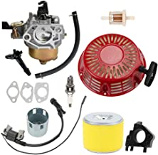 Hayskill 16100-ZF6-V01 Carburetor with 17210-ZE3-505 Air Filter Recoil Starter Ignition Coil for Honda GX340 GX390 13HP 11HP Engine 16100-ZF6-V00 Lawnmower Water Pumps