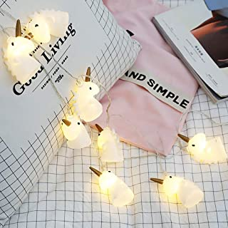 ANZOME 10 LED Cute Fairy Unicorn Children Bedroom String Lights for Indoor Outdoor Halloween Christmas Thanksgiving Home Birthday Decorative Party Yard Garden Kids Bedroom Living Dorm(Unicorn-B)