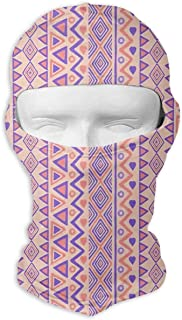 Prehistoric Stripes American Form Indie Ritual Hunting Balaclava Cycling Hiking Mask Windproof Ski Mask For Unisex