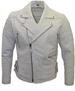 Parts & Accessories Ebay Motors Men Genuine Black Leather Motorcycle Jacket Size 6 Xl Jade White