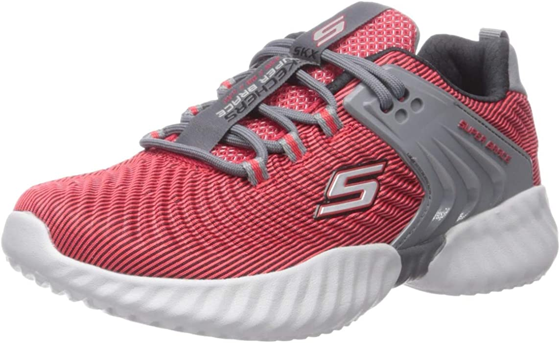 Skechers Unisex-Child Lace Up Sneaker W/Embossed